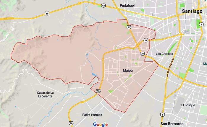 mapa comunal de maipú, plan regulador