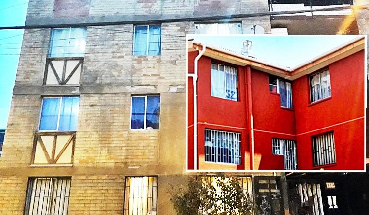 fachada de departamento en la farfana maipu
