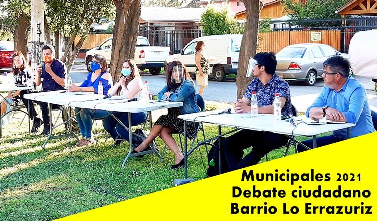 En lo Errazuriz se realizo el primer encuentro de candidatos con miras a las municipales 2021.